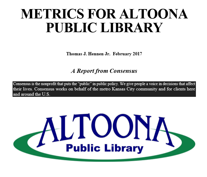 Metrics Report for Altoona Public Library